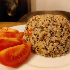 Pixelfed Photo: Quinoa, Buckwheat and Bell Peppers